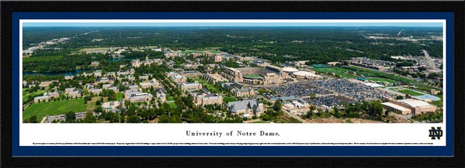 College - Notre Dame Fighting Irish - University of Notre Dame Aerial - Framed Picture