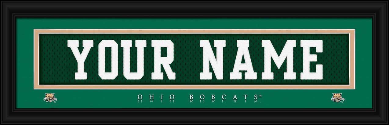 College - Ohio Bobcats - Personalized Jersey Nameplate - Framed Picture