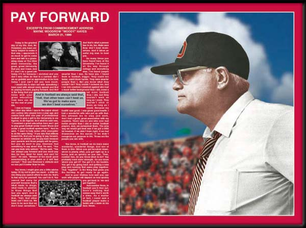College - Ohio State Buckeyes - Woody Hayes - Pay Forward - Framed Picture