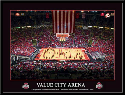 College - Ohio State Buckeyes - Value City Arena - Script Ohio - Framed Picture