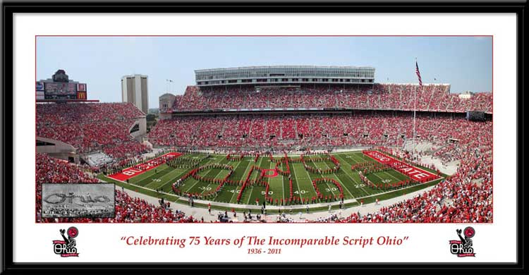 College - Ohio State Buckeyes - TBDBITL - 75 Years - Sm - Framed Picture