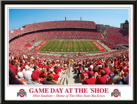 College - Ohio State Buckeyes - Game Day At The Shoe - Framed Picture