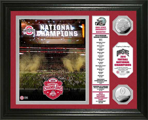 College - Ohio State Buckeyes - 2014 College Football Playoff Champs - Framed Picture