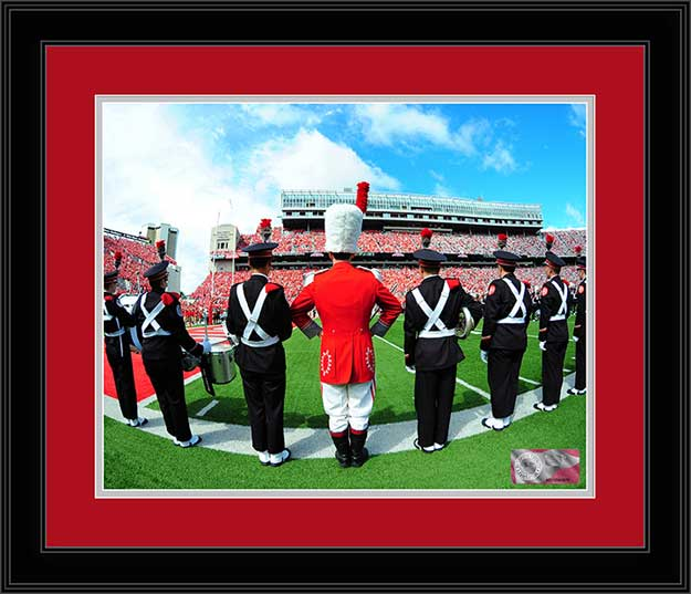 College - Ohio State Buckeyes - Marching Band - TBDBITL Lined Up - Framed Picture