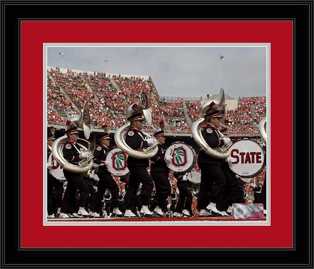 College - Ohio State Buckeyes - Marching Band - Tubas and Drums - Framed Picture