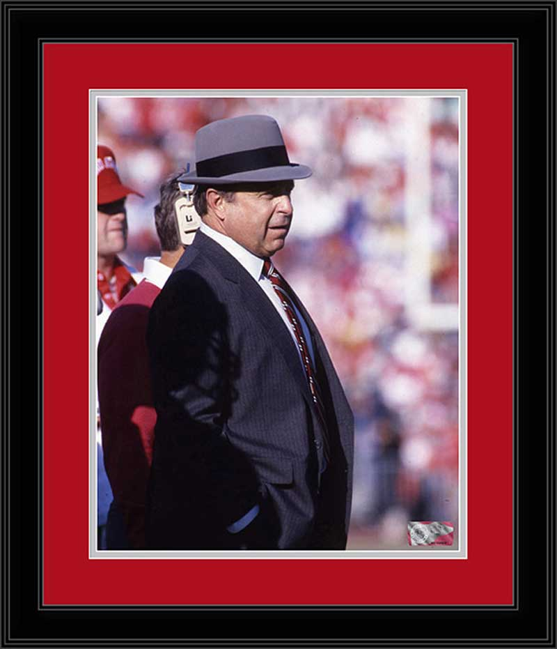 College - Ohio State Buckeyes - Earle Bruce - Fedora - 1987 - Framed Picture