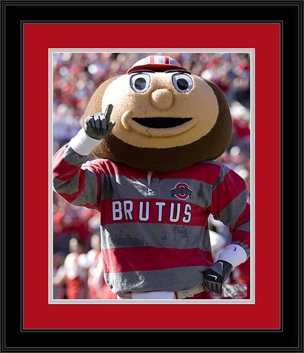 College - Ohio State Buckeyes - Brutus Buckeye - Number One - Framed Picture