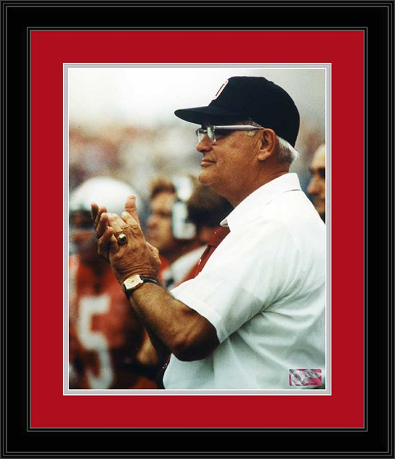 College - Ohio State Buckeyes - Woody Hayes Clapping - Framed Picture