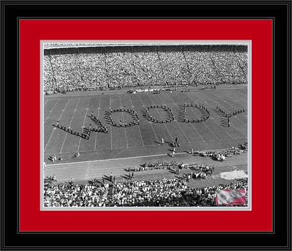 College - Ohio State Buckeyes - Marching Band - Spelling Woody - Framed Picture