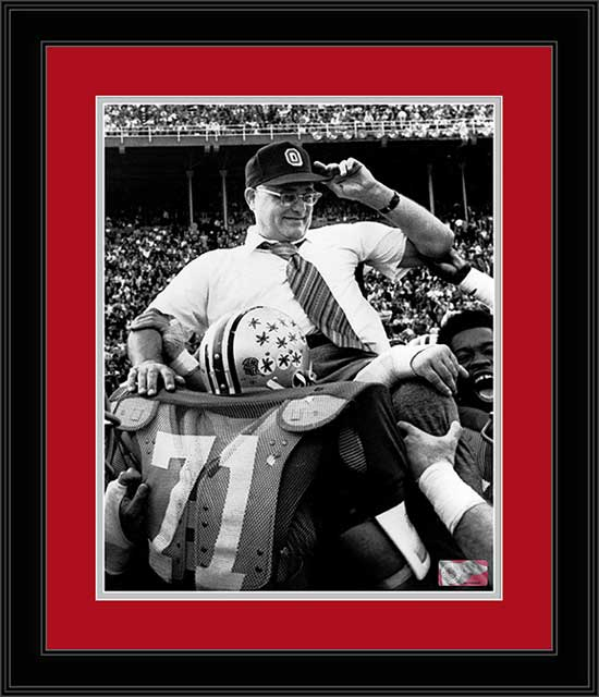 College - Ohio State Buckeyes - Woody Hayes Carried - 200th Win - Framed Picture