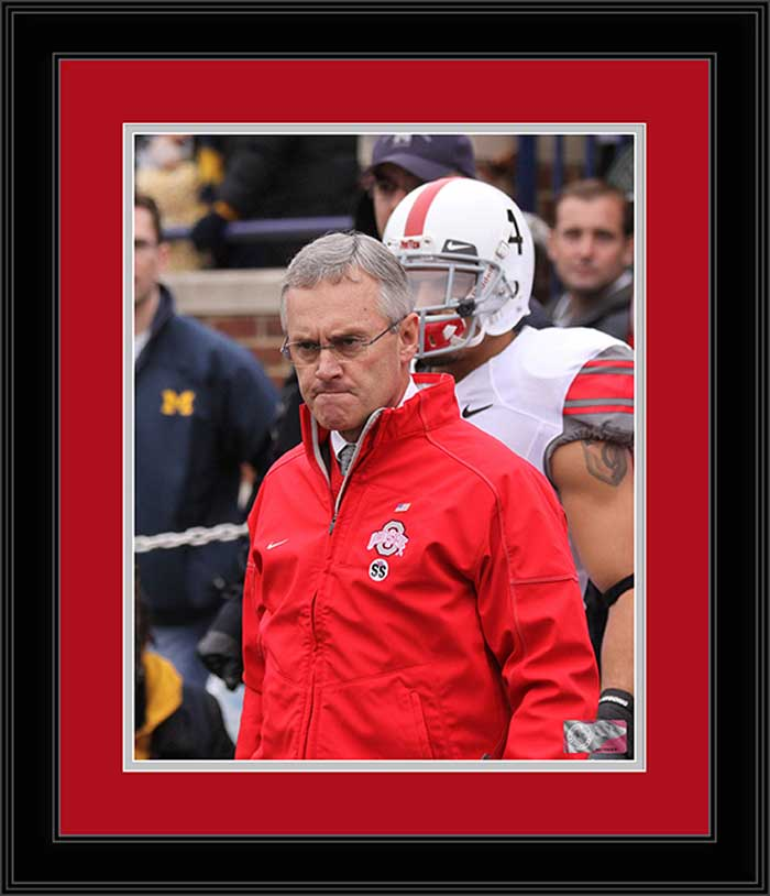 College - Ohio State Buckeyes - Jim Tressel - Before Leading Team - Framed Picture