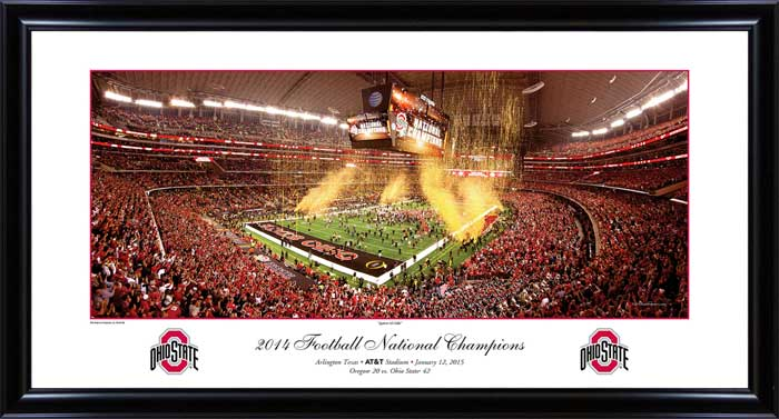 College - Ohio State Buckeyes - 2014 Champions - Against All Odds - Framed Picture