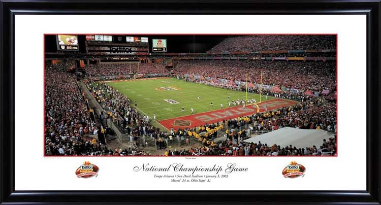 College - Ohio State Buckeyes - 2002 Football National Champions - Framed Picture
