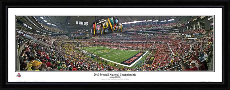 College - Ohio State Buckeyes - 2015 Football National Championship - Framed Picture