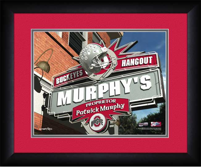 College - Ohio State Buckeyes - Personalized Hangout Sign - Framed Picture