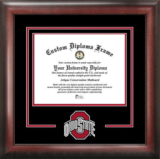 College - Ohio State University Buckeyes - College Logo - Spirit Mat Cutout - Diploma Frame