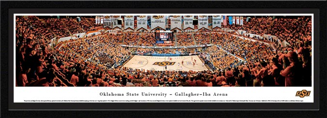 College - Oklahoma State Cowboys - Gallagher-Iba Arena - Framed Picture