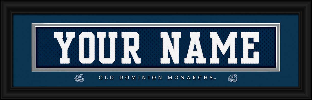 College - Old Dominion Monarchs - Personalized Jersey Nameplate - Framed Picture