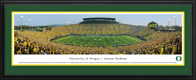 College - Oregon Ducks - Autzen Stadium - Dusk 2013 - Framed Picture