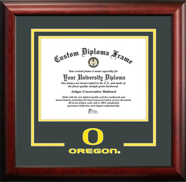 College - University of Oregon Ducks - College Logo - Spirit Mat Cutout - Diploma Frame