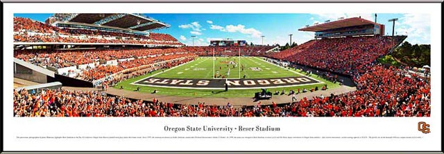 College - Oregon State Beavers - Reser Stadium - End Zone - Framed Picture
