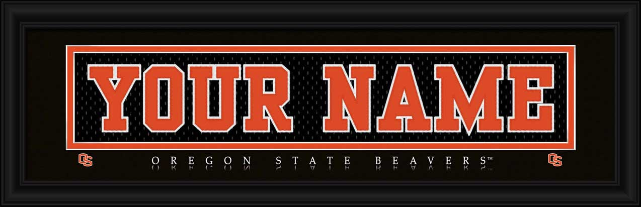 College - Oregon State Beavers - Personalized Jersey Nameplate - Framed Picture