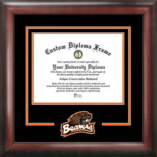 College - Oregon State University Beavers - College Mascot - Spirit Mat Cutout - Diploma Frame