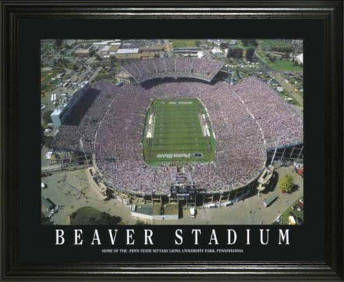 College - Pennsylvania State Nittany Lions - Beaver Stadium Aerial - Lg - Framed Picture