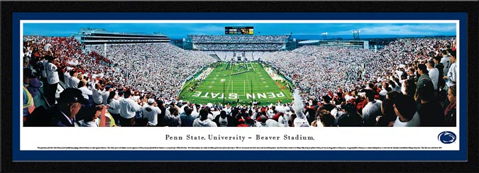 College - Pennsylvania State Nittany Lions - Beaver Stadium - White Out - Framed Picture
