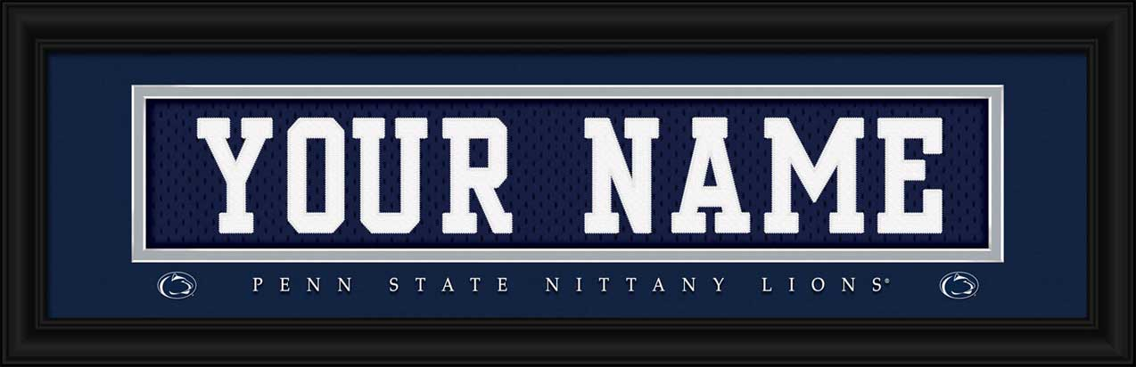 College - Pennsylvania State Nittany Lions - Personalized Jersey Nameplate - Framed Picture