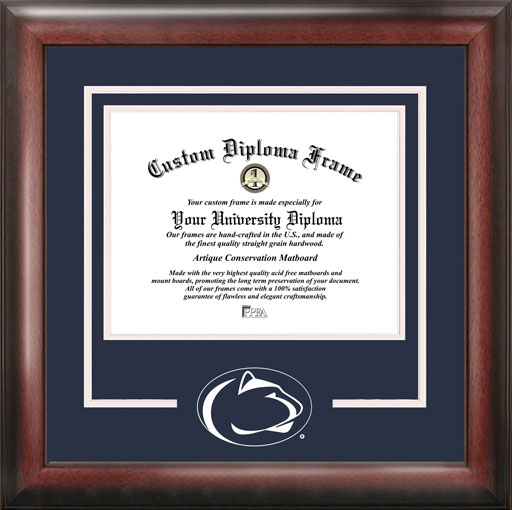 College - Pennsylvania State University Nittany Lions - College Mascot - Spirit Mat Cutout - Diploma Frame
