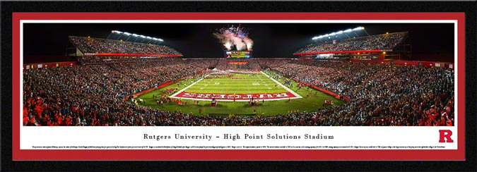 College - Rutgers Scarlet Knights - Hight Point Solutions Stadium 2014 - Framed Picture