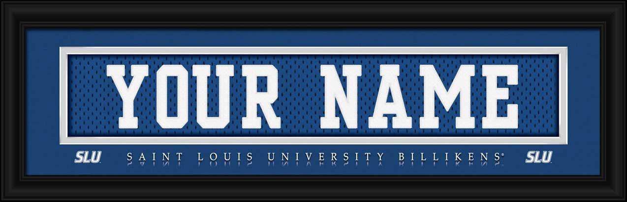College - Saint Louis Billikens - Personalized Jersey Nameplate - Framed Picture