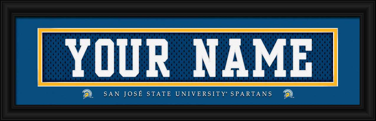 College - San Jose State Spartans - Personalized Jersey Nameplate - Framed Picture