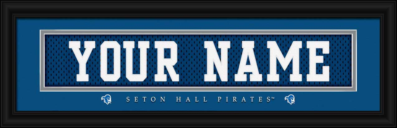 College - Seton Hall Pirates - Personalized Jersey Nameplate - Framed Picture
