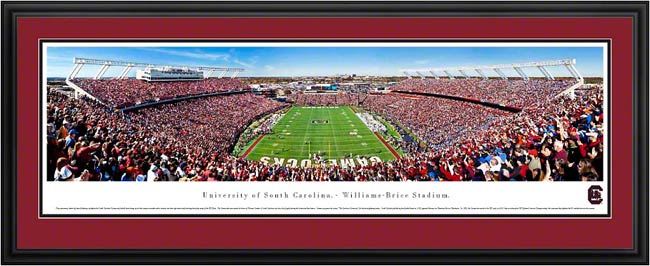 College - South Carolina Gamecocks - Williams-Brice Stadium - End Zone - Framed Picture
