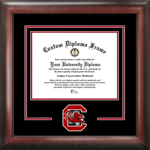 College - University of South Carolina Gamecocks - College Mascot - Spirit Mat Cutout - Diploma Frame