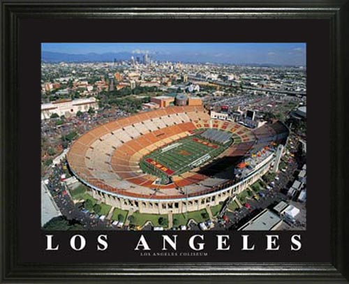 College - Southern California Trojans - Los Angeles Coliseum Aerial - Lg - Framed Picture