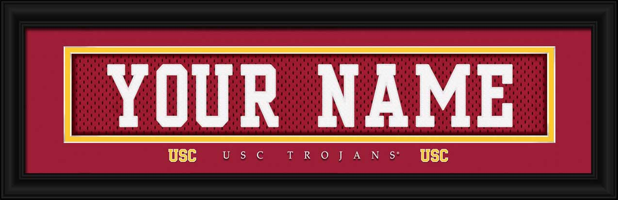 College - Southern California Trojans - Personalized Jersey Nameplate - Framed Picture