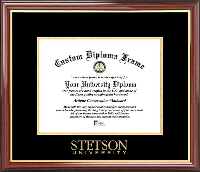 College - Stetson University Hatters - Embossed Seal - Mahogany Gold Trim - Diploma Frame