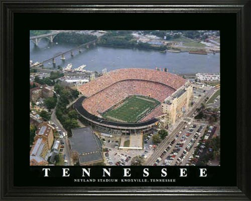 College - Tennessee Volunteers - Neyland Stadium Aerial - Lg - Framed Picture