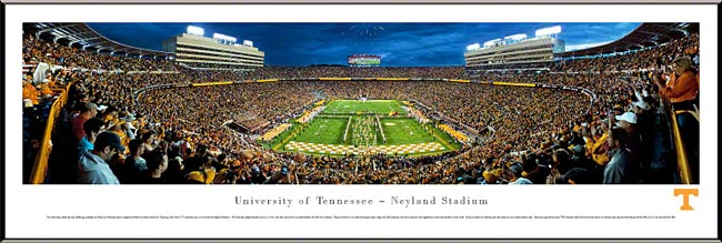 College - Tennessee Volunteers - Neyland Stadium - End Zone - Framed Picture