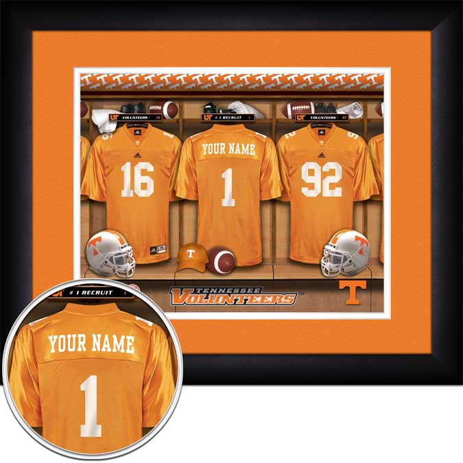 College - Tennessee Volunteers - Personalized Locker Room - Framed Picture