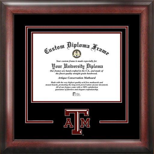 College - Texas A&M University Aggies - College Logo - Spirit Mat Cutout - Diploma Frame