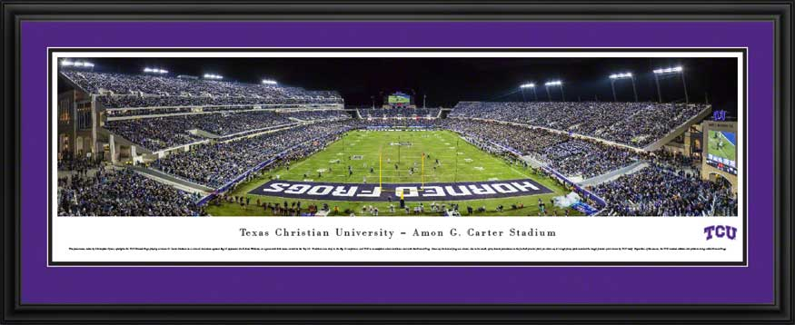 College - Texas Christian Horned Frogs - Amon G Carter Stadium 2014 - Framed Picture
