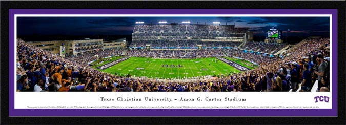 College - Texas Christian Horned Frogs - Amon G Carter Stadium - Framed Picture