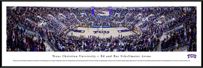College - Texas Christian Horned Frogs - Ed and Rae Schollmaier Arena - Framed Picture