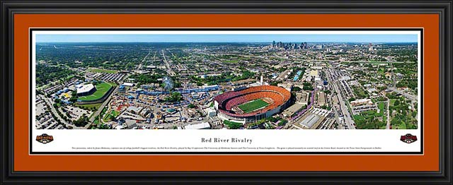 College - Texas Longhorns - Red River Rivalry - Cotton Bowl - Framed Picture