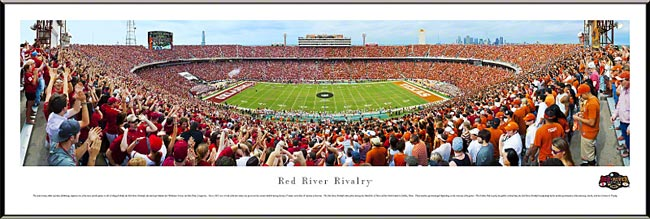 College - Texas Longhorns - Red River Rivalry - Shootout 2012 - Framed Picture