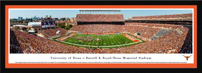 College - Texas Longhorns - Darrell K Royal - Texas Memorial Stadium - Framed Picture